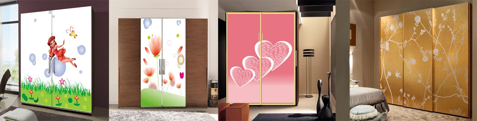 Printing on glass printing on mirrors canvas printing for Bedroom wardrobe designs bangalore
